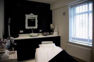 Treatment room at Exhale Therapy