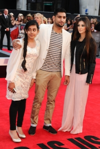 Amir and Faryal on the red carpet