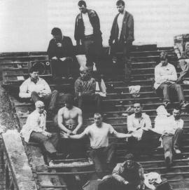 On the roof during the riot via Wiki Commons