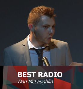 Matt accepts Best Radio on behalf of Dan